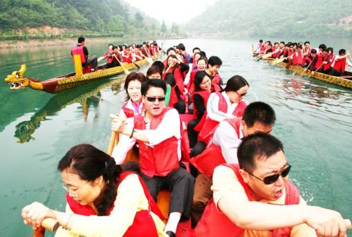 最新石燕湖旅游活动——大学生龙舟赛