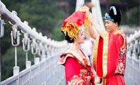 """长沙七夕石燕湖鹊桥相会丨百米天空廊桥上演""""复古婚礼""""!"""