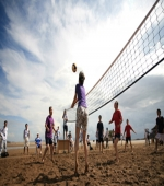 石燕湖景点——沙滩排球