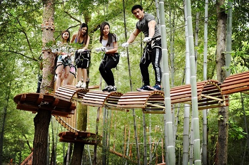 石燕湖丛林冒险活动