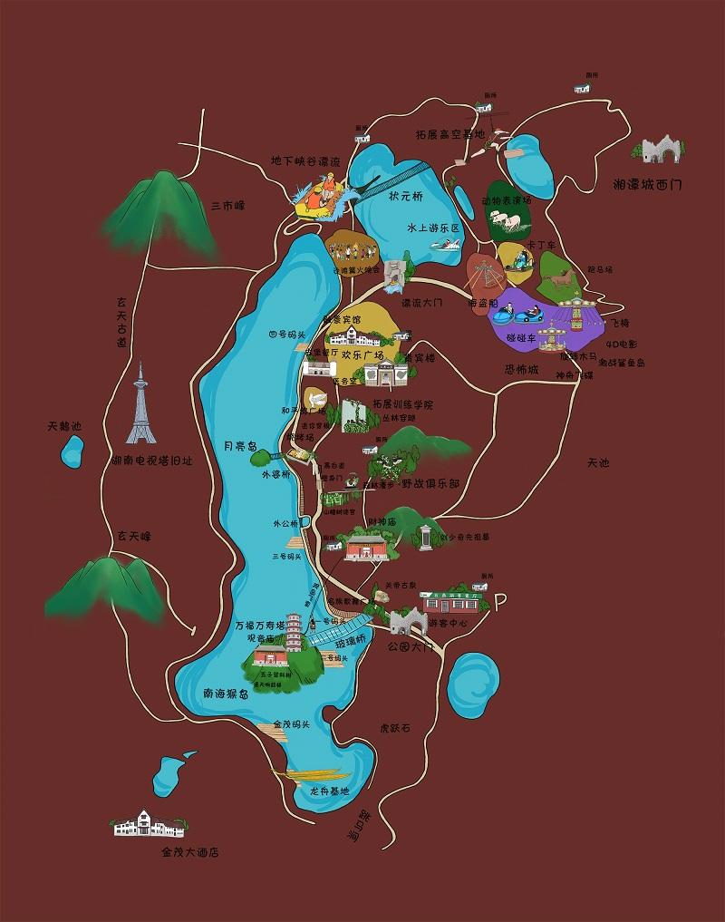 石燕湖景区全景图虚拟旅游