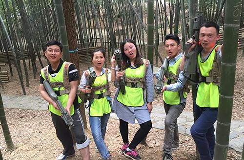 长沙石燕湖团队拓展训练展示